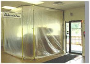 Dust Control Mist And Mold Plastic Barrier Containment